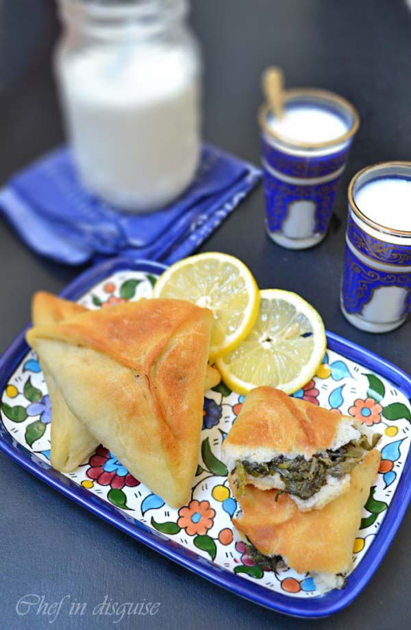 Spinach Pastry Triangle