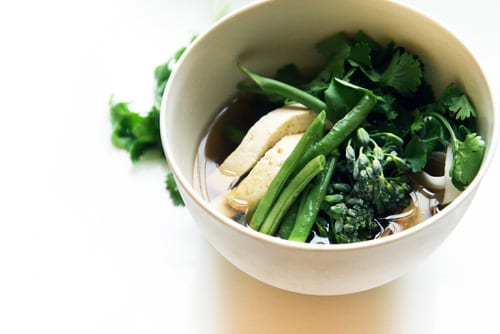 Parsley Root Noodles with Baked Tofu
