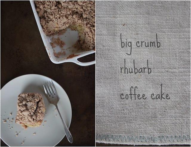 Crumbly Rhubarb Cake