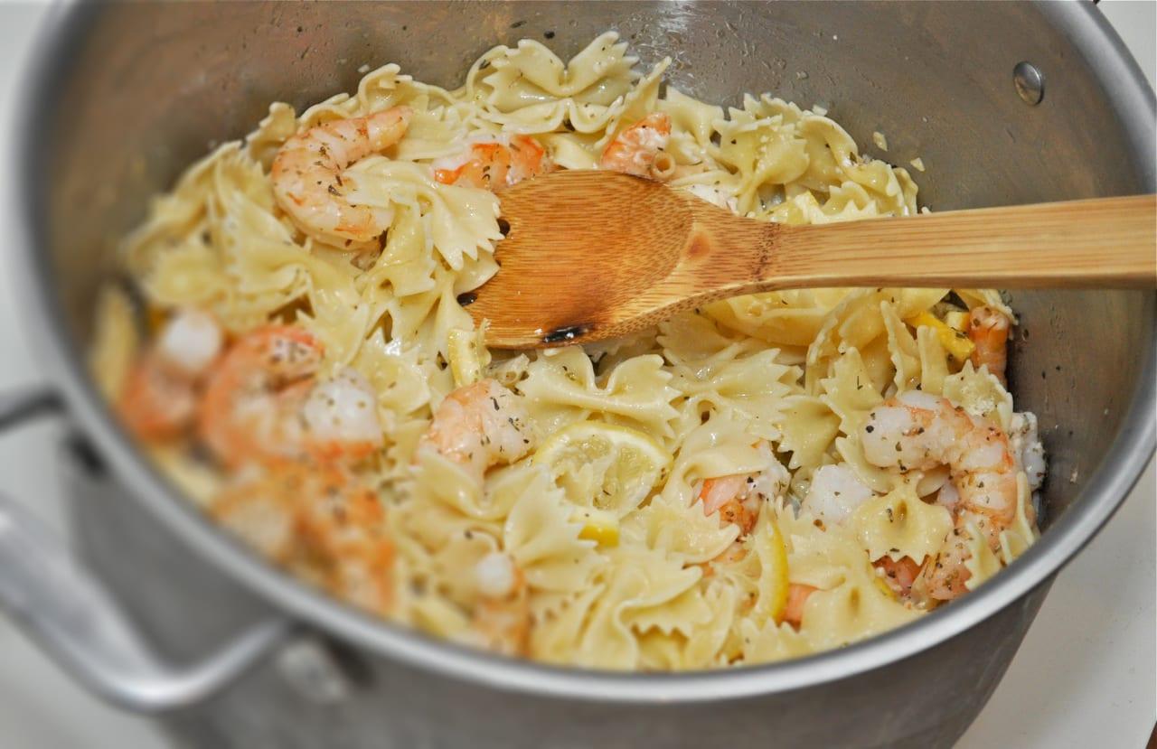 Bow Tie Shrimp Pasta
