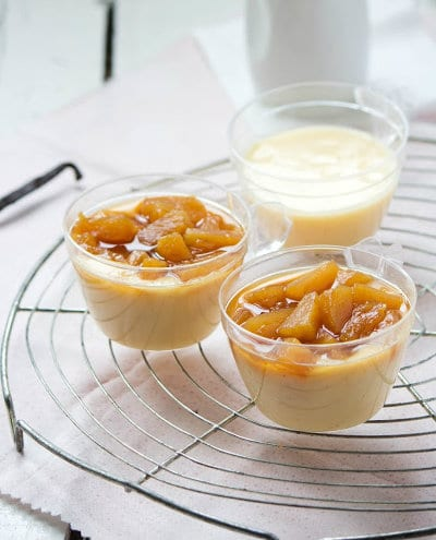 Natillas with caramelized pineapple