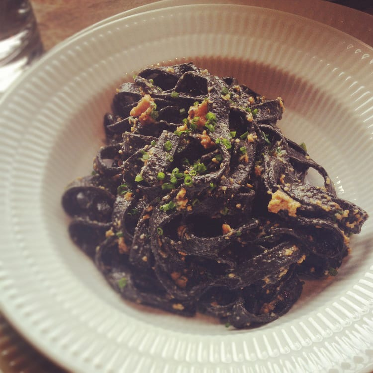Squid Ink Pasta with Sea Urchin Sauce