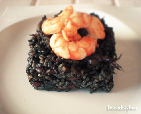 Black Rice with Baby Squid and King Prawns