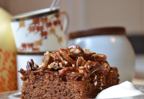 Maple-Pecan Date Spice Cake