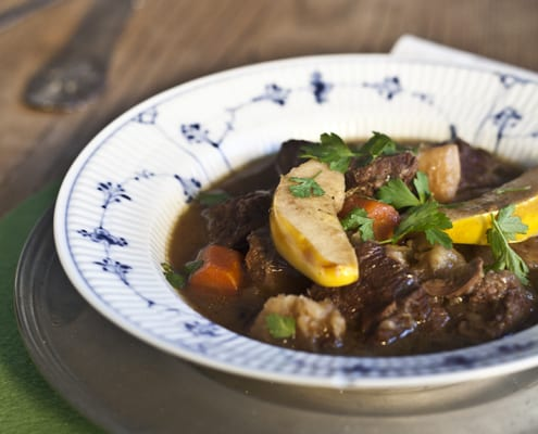 St. Patrick's Day Stew with Porter and Quince