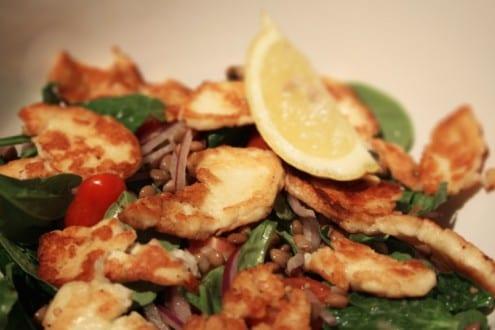 Lentils and Haloumi Salad