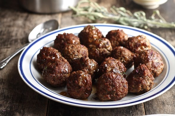 Herb Meatballs with Maple Sweet and Sour