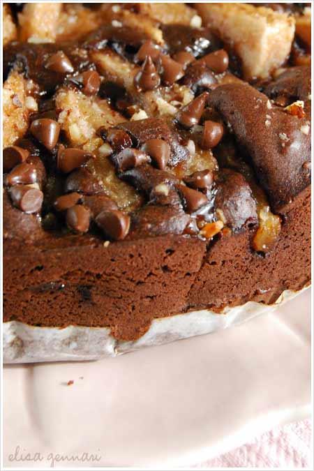 Triple Chocolate and Pears Cake