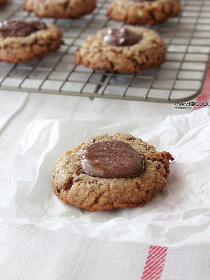Sea Salt Nutella Peanut Butter Cookies