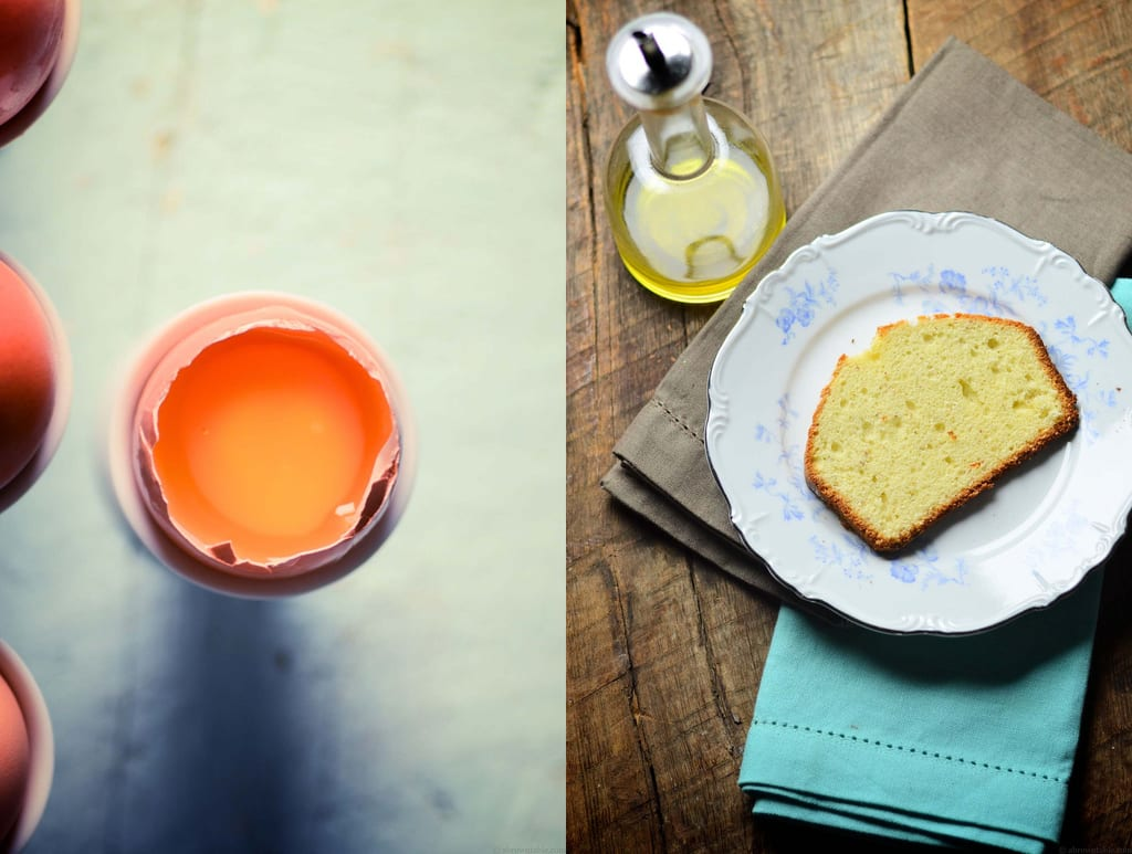 Cardamom and Saffron Olive Oil Pound Cake