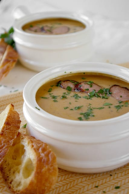 Roasted Rutabaga Beer Cheese Soup