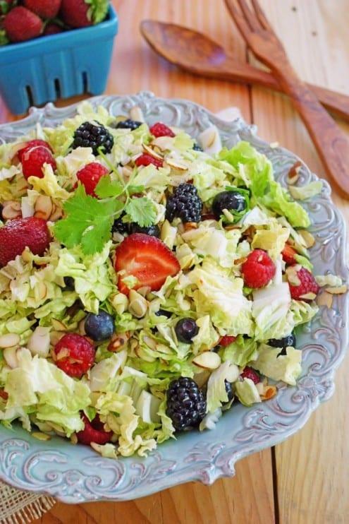 Four Berry Napa Cabbage Salad