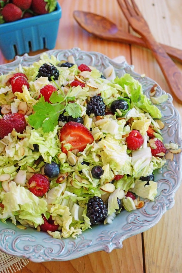Four Berry Napa Cabbage Salad