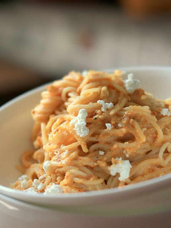 Chilli Pesto and Peanut Pasta