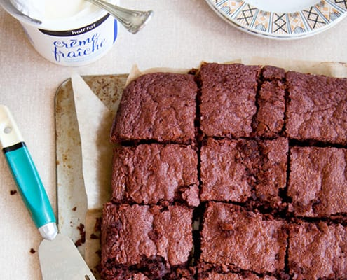 Chocolate, Orange, and Beet Brownies