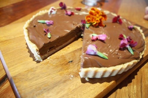 Silken Tofu Chocolate Fudge Tart – Honest Cooking