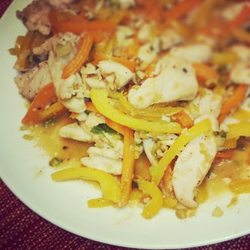 Lemongrass Chicken and Bell Pepper Stir-Fry Recipe by Tania Goulart