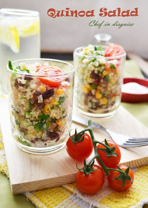 Quinoa Salad with Corn and Black Beans – Honest Cooking