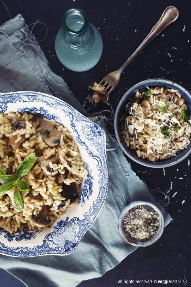 Leeks and Mushroom Risotto