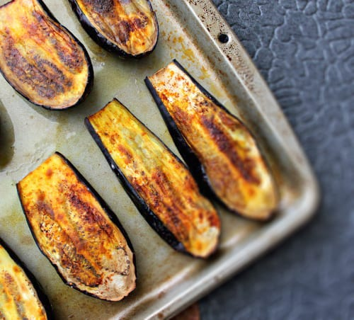 Indian Spiced Roasted Eggplants