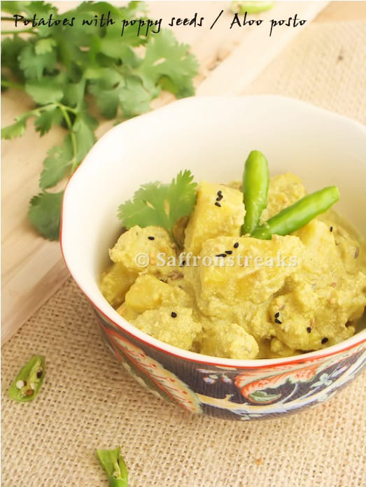 Aloo Posto - Curried Potatoes