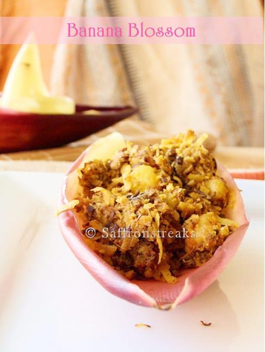 Stir Fried Banana Blossoms