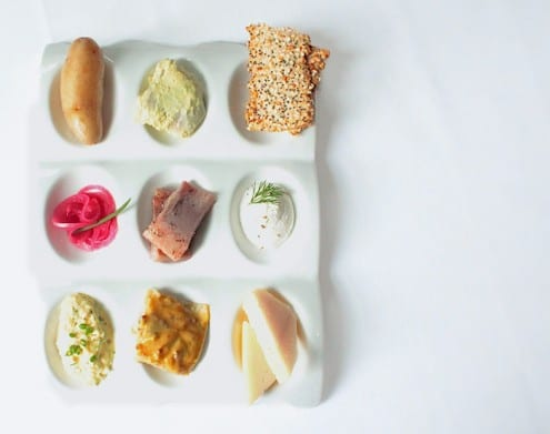 Herring Plate by Chef Mathias Brogie