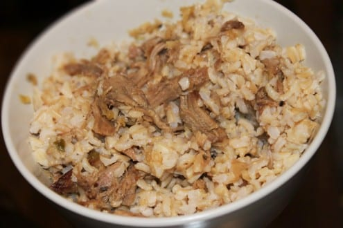 Kalua Pork with Cabbage and Onions
