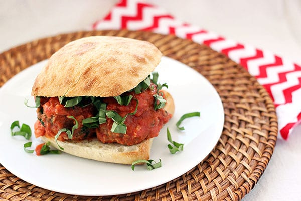 Sausage and Goat Cheese Meatball Sandwiches