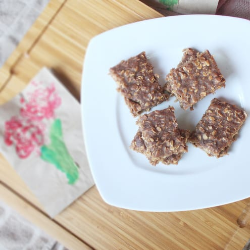 Chocolate Banana Oat Bars
