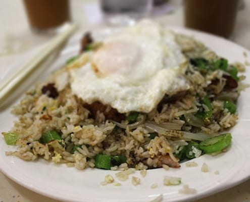 Go to For Kee for Pork Chop Fried Rice in Hong Kong