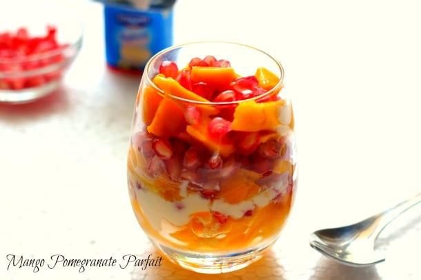 Mango Pomegranate Parfait