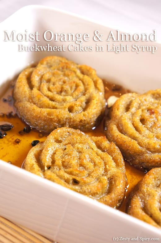 Orange and Almond Buckwheat Cakes in Light Syrup