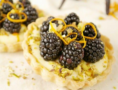 Blackberry, Orange and Vanilla Cream Tartlets