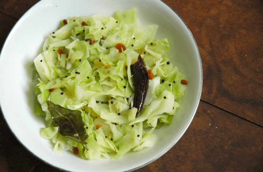 Cabbage Palya - South Indian Stir Fry
