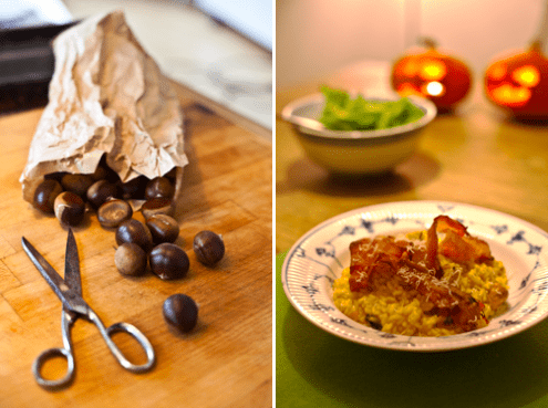 Pumpkin and Chestnut Risotto