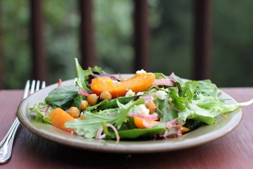 Roasted Chickpea and Apricot Salad