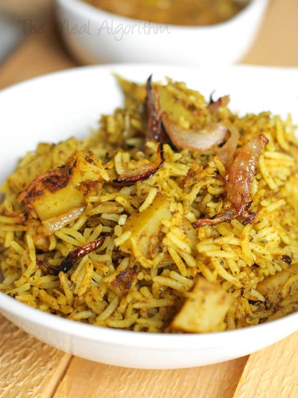 Vegetarian Hyderabadi Dum Biryani