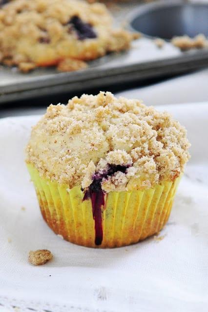 Gluten Free Blueberry Streusel Muffins