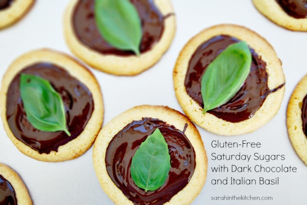 Saturday Sugars with Dark Chocolate and Italian Basil
