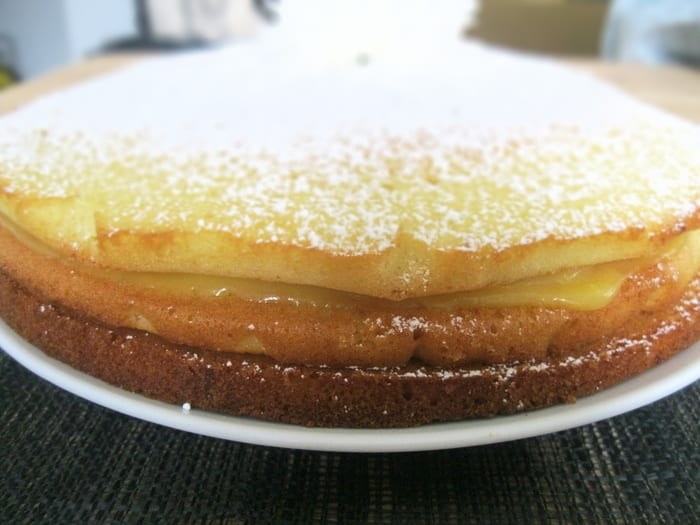 Triple Layer Lemon Curd Cake