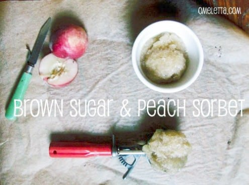 Brown Sugar and Peach Sorbet