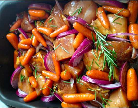 Rosemary and Baby Carrot Chicken