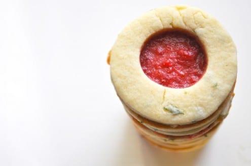 Strawberry Basil Window Cookies
