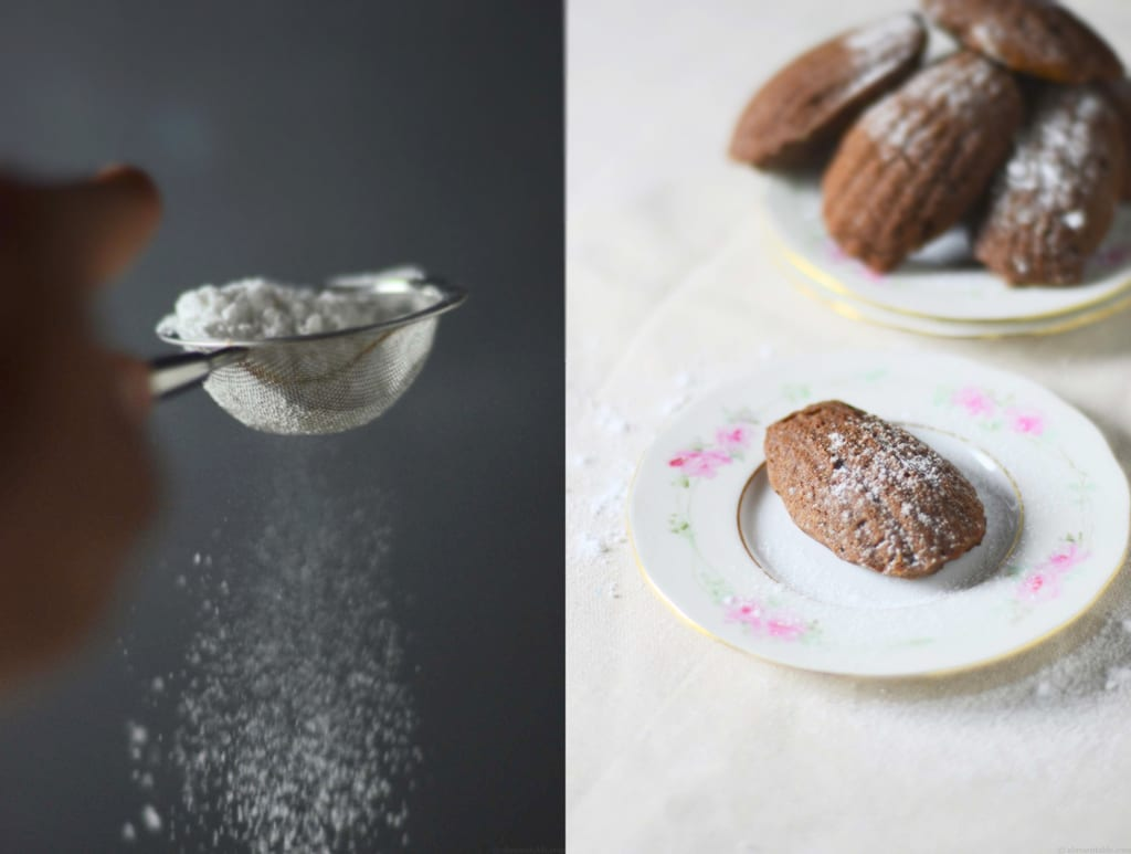 Avocado Dark-chocolate Madeleines