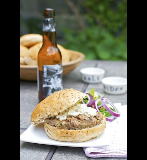 Scandinavian Beer Burger with Danish Remoulade
