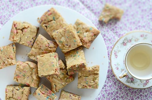 Funfetti Birthday Cake Batter Blondies
