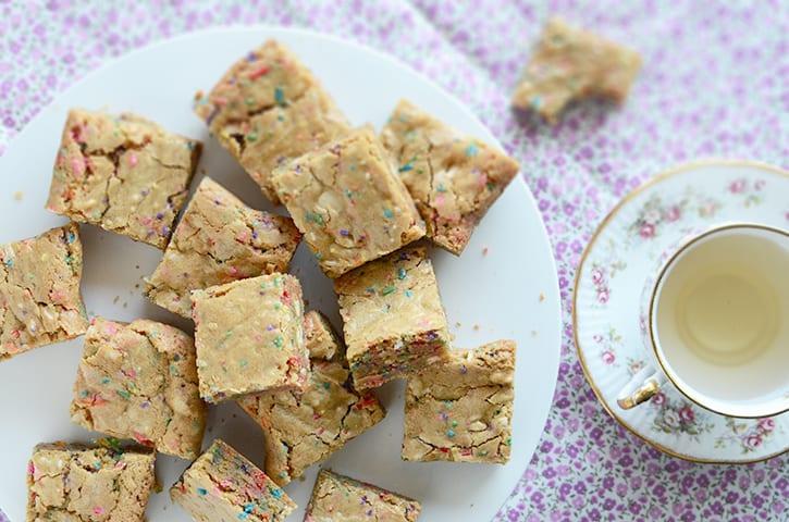 Fabulous Funfetti Birthday Cake Batter Blondies Recipe By Faith Gorsky Funny Birthday Cards Online Fluifree Goldxyz