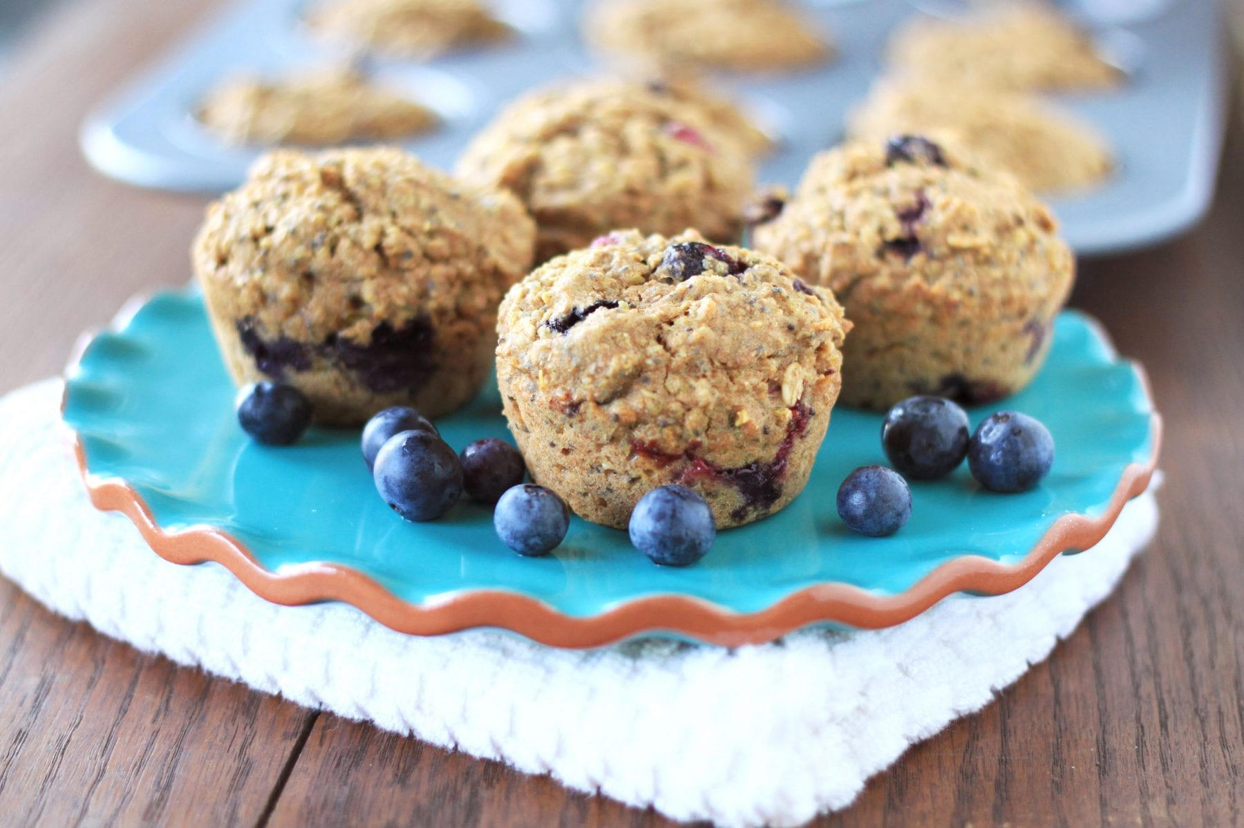 Quinoa Blueberry Muffins