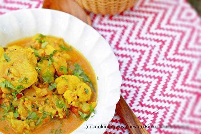 Coconut Fish Curry with Cauliflower and Potatoes